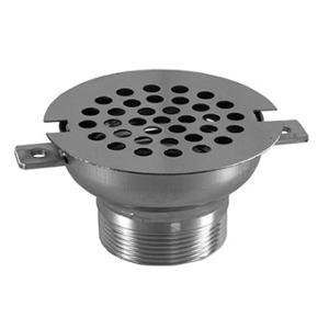 Round overflow drainage for tiled pools AISI 316L