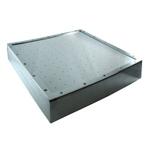 Air massage plate for liner pools 600 x 600 mm AISI 304