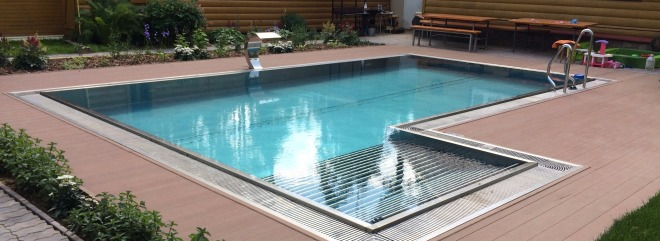 Stainless steel swimming pools building