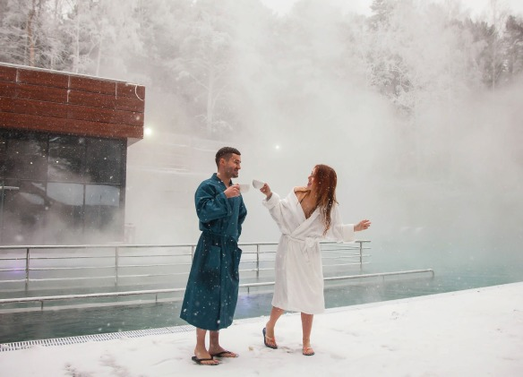 The largest thermal pool in the Urals
